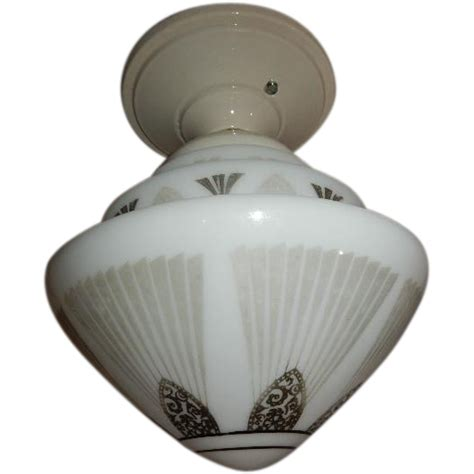 deco flush mount ceiling light fixture with black