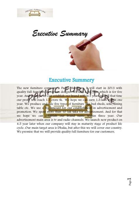 furniture business plan sample furniture manufacturing