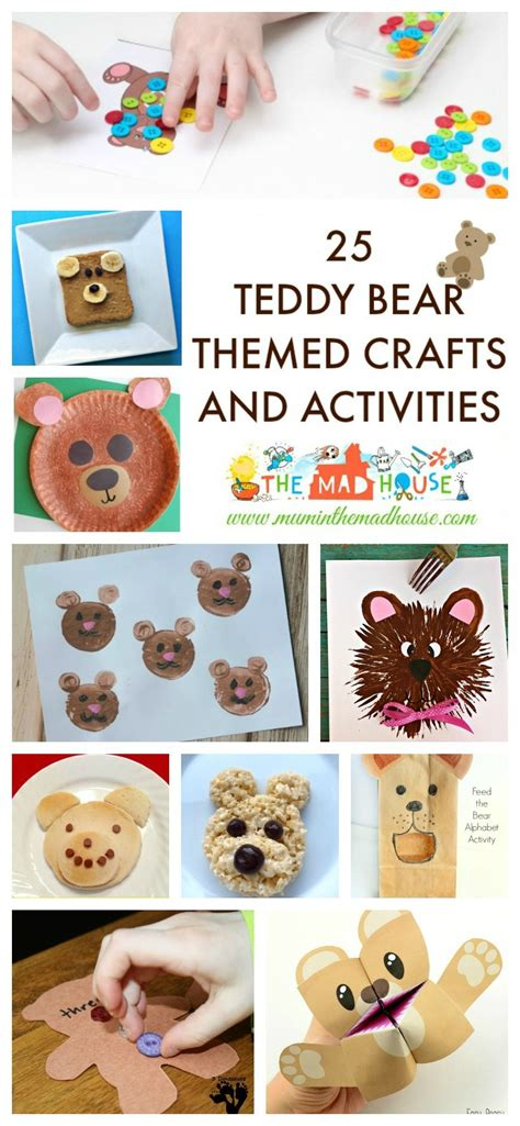 25 teddy themed crafts and activities celebrate 680 | 25 Teddy Bear Themed Crafts and Activities pin 870x1882