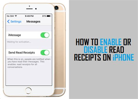 how to enable a disabled iphone how to enable or disable read receipts on iphone