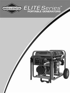 Briggs  U0026 Stratton Portable Generator 030385 User Guide
