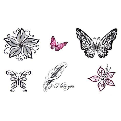 Tatouage Temporaire Et éphémère Papillon Dentelle