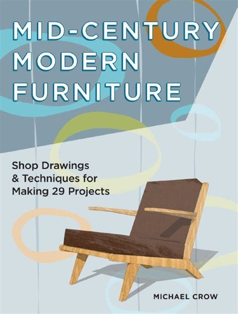 mid century modern furniture plans book giveaway