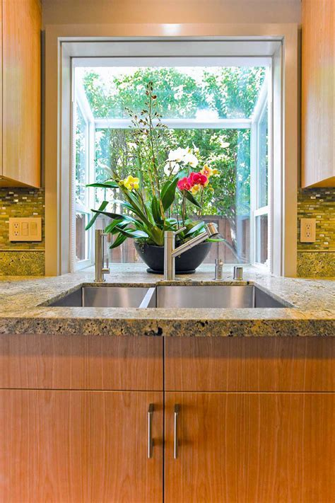 garden windows for kitchens Kitchen Mediterranean with