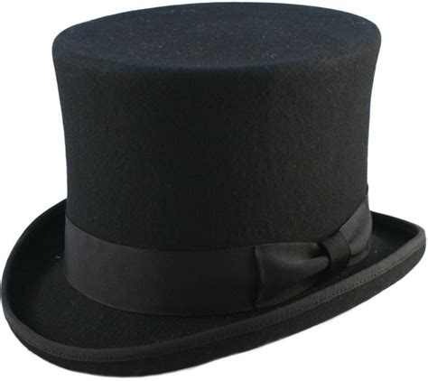 top hat table l quality hand made black 6 quot high top hat topper hat wedding