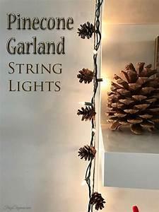 Pinecone String Light Garland FrugElegance