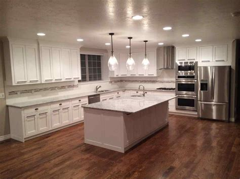 galley style kitchen design ideas pictures of kitchens with white cabinets and wood floors