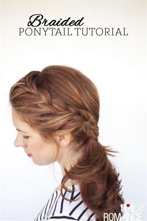 Weekend style   Braided ponytail tutorial   Hair Romance