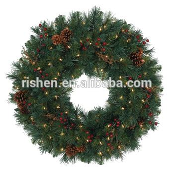 bulk christmas wreath garland in cane linen with novelty