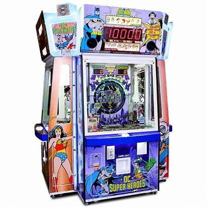 Dc Pusher Coin Superheroes Namco Arcade Bandai