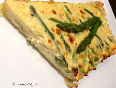 comment cuisiner des asperges vertes quiche aux asperges et au bleu de chèvre par la cuisine d
