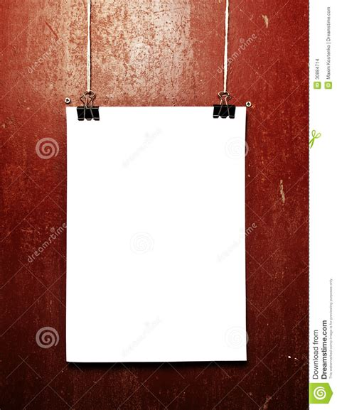 blank white poster   rope stock images image