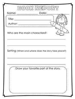 book report templates  kinder   graders  tiny