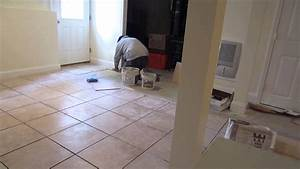 time lapse of a 1639x16quot ceramic tile installation on a With tiling on concrete floor basement
