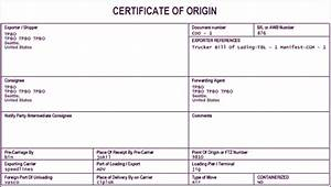 6 free certificate of origin templates excel pdf formats With certificate of origin template uk