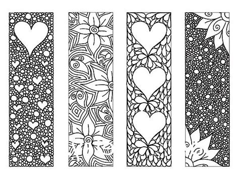 bookmarks to color bookmarks of flower bookmarks coloring pages