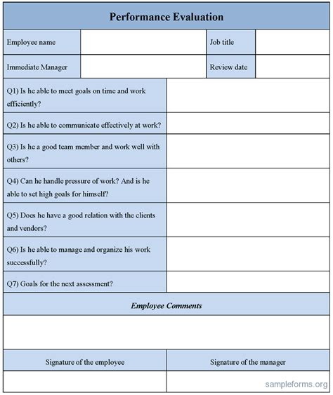 feedback forms for employees doc 608789 sample employee evaluation forms free