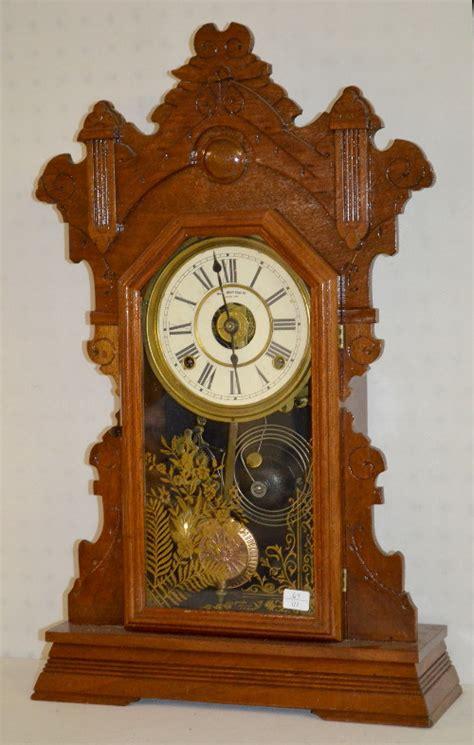 antique gilbert oak kitchen clock price guide