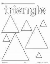 Triangle Coloring Shapes Triangles Shape Printable Worksheet Worksheets Preschool Toddlers Tracing Preschoolers Colouring Supplyme Kindergarten Circle Trace Colors Circles Practice sketch template