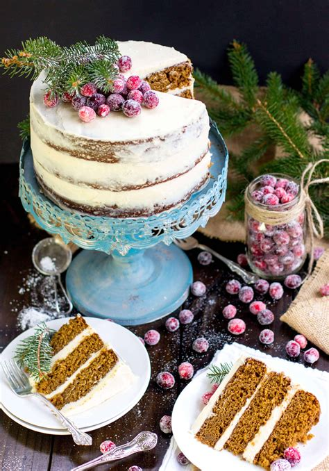 gingerbread layer cake  brown sugar bourbon