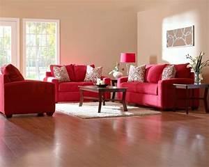 Welche Kissen Zu Rotem Sofa : wohnzimmer mit rotem sofa ~ Michelbontemps.com Haus und Dekorationen