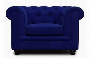 Fauteuil Chesterfield Pas Cher : fauteuil chesterfield 1 place bleu velours lily design en direct de l 39 usine sur sofactory ~ Teatrodelosmanantiales.com Idées de Décoration