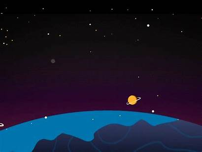 Space Galaxy Motion Animated Dribbble Animation Illustrator