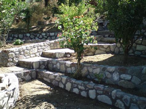 Chatsi Steinmauern Im Garten Peloponnestreffde