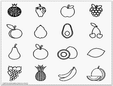 Mixed Vegetable Pages Coloring Pages