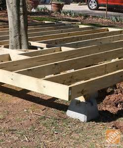 tips and ideas on how to build a floating deck the home depot gardens decks and concrete