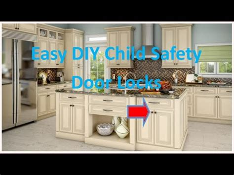 baby proof cabinets diy diy easy child safety locks youtube
