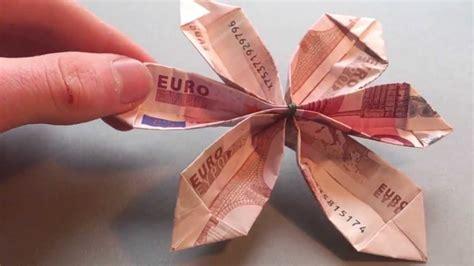 bastelanleitung blume aus geld falten blume aus origami