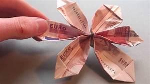Origami Blumen Falten : bastelanleitung blume aus geld falten blume aus origami ~ Watch28wear.com Haus und Dekorationen