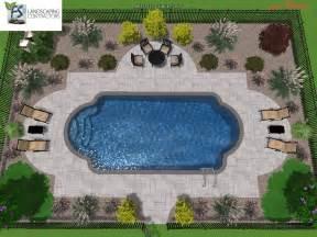 Roman Shape Inground Swimming Pool Designs