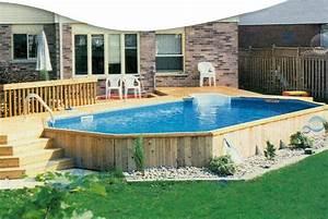 Enterrer Une Piscine Hors Sol : terrasse piscine hors sol acier ~ Melissatoandfro.com Idées de Décoration