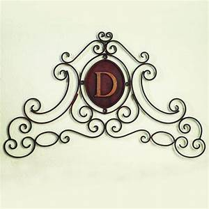 monogram iron wall art images frompo With monogrammed wall art