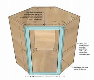 Ana White Build a Wall Kitchen Corner Cabinet Free and