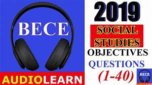 Bece 2019 Social Studies Objective Test