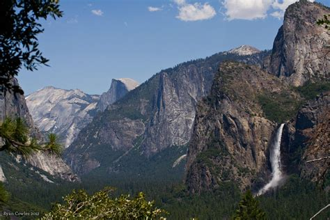 Yosemite Valley Waterfall Half Dome National