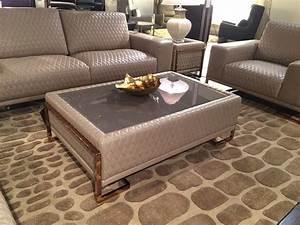 aico leather sofa with rose gold metal trim leather sofas With gold leather sectional sofa
