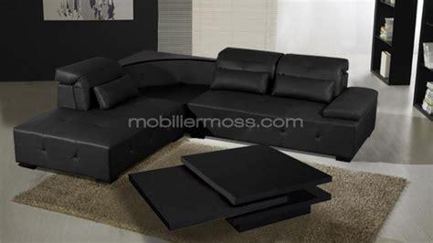 canape d angle cuir noir photos canapé d 39 angle cuir noir