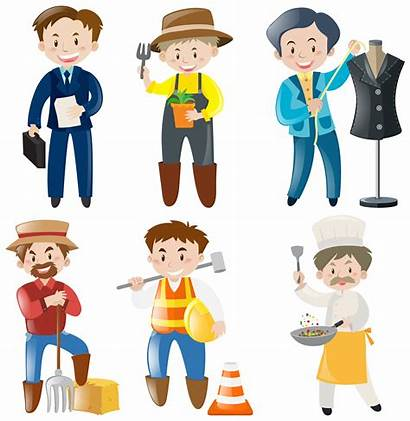 Jobs Different Vector Kinds Doing Working Illustration