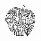 Coloring Adult Pages Para Apple Mandalas Zentangle Vector Imagen Pintar Tree Resultado Illustration Doodle Herbst Ausmalvorlagen Colorear Buhos Fantasy Con sketch template