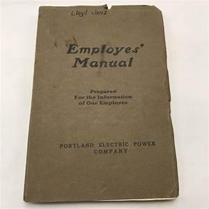 Portland Electric Power Employee Manual Handbook 1920s