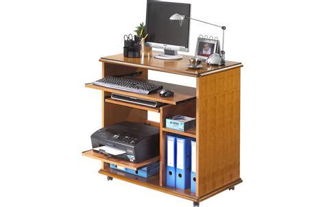 bureau informatique complet en bois merisier lyon