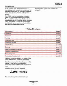 Scotsman Cm500 Service Manual