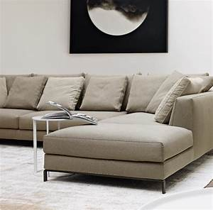 Corner sectional upholstered fabric sofa ray collection by for B b italia ray sectional sofa