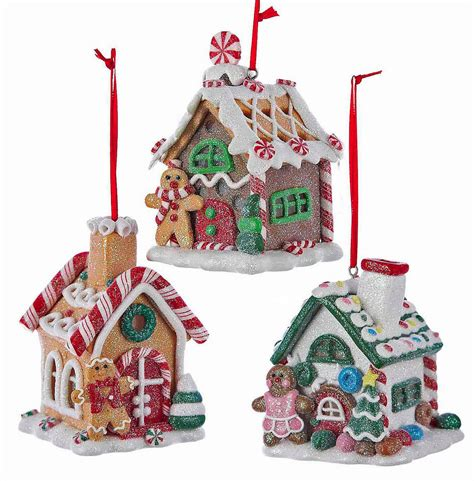 christmas ornaments quot sugar coated quot led lighted