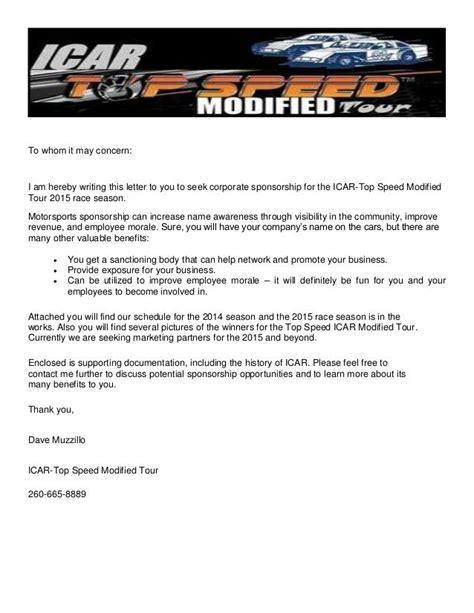 race car sponsorship template  resume cover icar