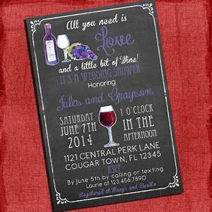 printable wine theme couples coed wedding shower With coed wedding shower invitations